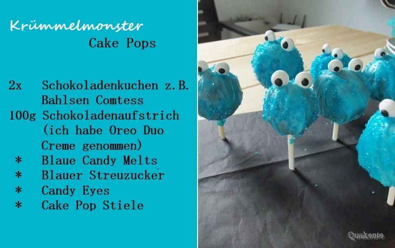 Krümmelmonster Cake Pops
